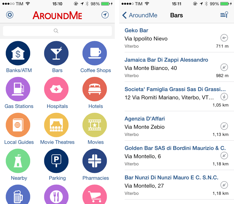 Aroundme Gets Redesign For Ios 7 Macstories