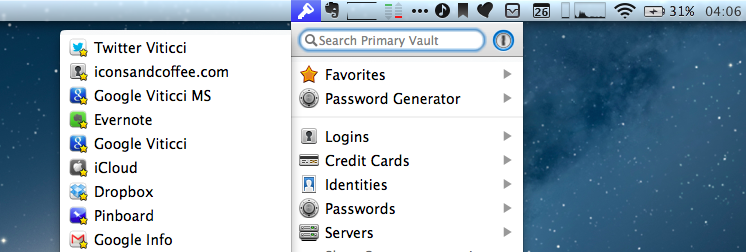 1Password 4 for Mac